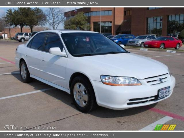 2002 Honda Accord EX V6 Sedan in Taffeta White. Click to see large ...
