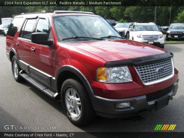 redfire metallic 2004 ford expedition xlt 4x4 medium parchment interior. Black Bedroom Furniture Sets. Home Design Ideas