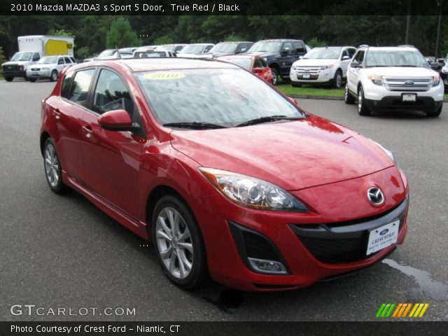 true red 2010 mazda mazda3 s sport 5 door black interior vehicle archive. Black Bedroom Furniture Sets. Home Design Ideas