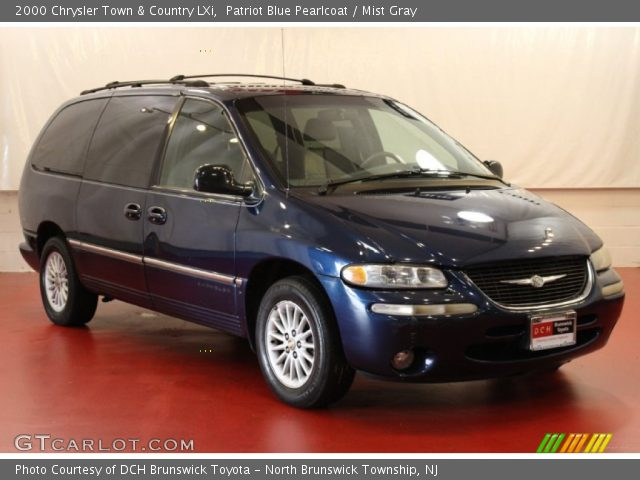 patriot blue pearlcoat 2000 chrysler town country lxi mist gray interior. Black Bedroom Furniture Sets. Home Design Ideas
