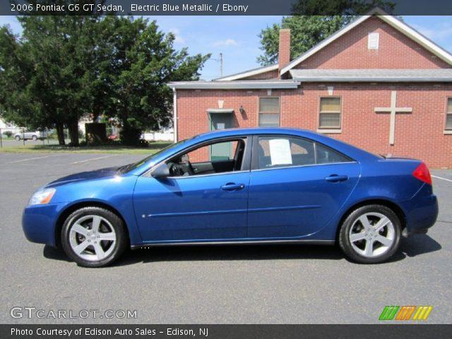electric blue metallic 2006 pontiac g6 gt sedan ebony. Black Bedroom Furniture Sets. Home Design Ideas
