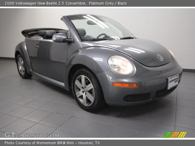 platinum grey 2006 volkswagen new beetle 2 5 convertible black interior. Black Bedroom Furniture Sets. Home Design Ideas