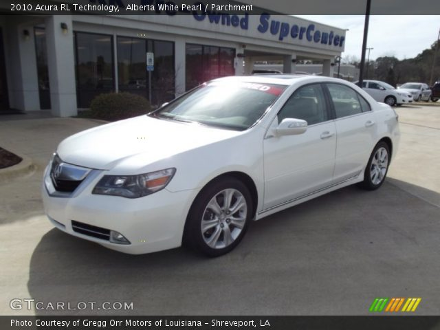 alberta white pearl 2010 acura rl technology parchment interior vehicle. Black Bedroom Furniture Sets. Home Design Ideas