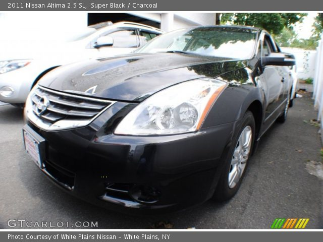 super black 2011 nissan altima 2 5 sl charcoal interior vehicle archive. Black Bedroom Furniture Sets. Home Design Ideas