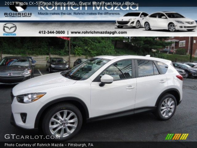 2013 Mazda CX-5 Grand Touring AWD in Crystal White Pearl Mica
