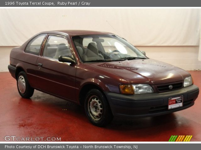 1996 Toyota Tercel Coupe in Ruby Pearl
