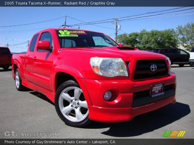 radiant red 2005 toyota tacoma x runner graphite gray interior vehicle. Black Bedroom Furniture Sets. Home Design Ideas
