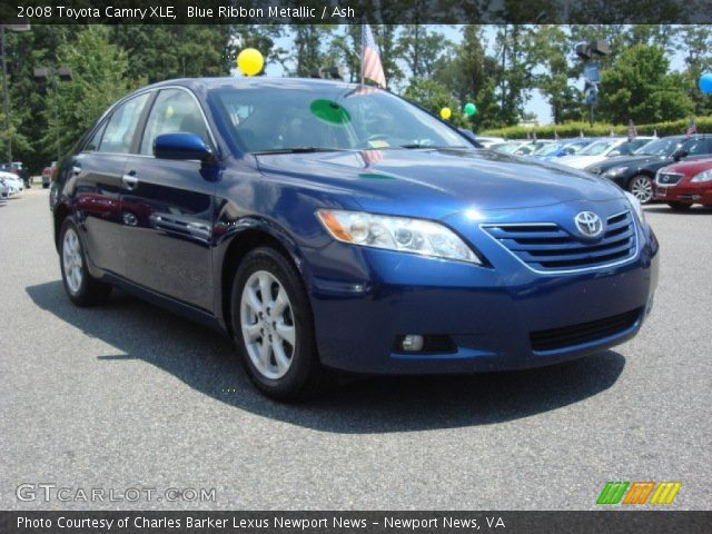 blue ribbon metallic 2008 toyota camry xle ash interior vehicle archive. Black Bedroom Furniture Sets. Home Design Ideas