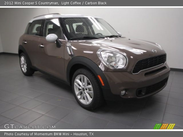 light coffee 2012 mini cooper s countryman carbon black interior vehicle. Black Bedroom Furniture Sets. Home Design Ideas