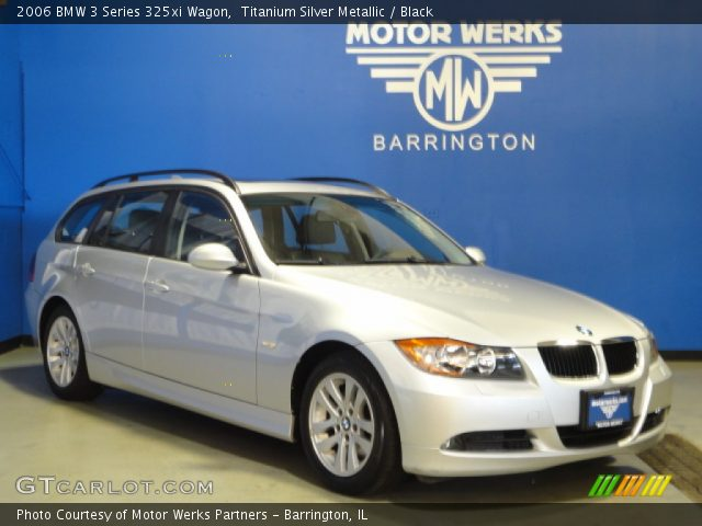 titanium silver metallic 2006 bmw 3 series 325xi wagon black interior. Black Bedroom Furniture Sets. Home Design Ideas