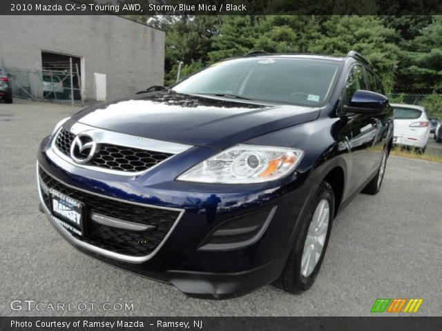 stormy blue mica 2010 mazda cx 9 touring awd black. Black Bedroom Furniture Sets. Home Design Ideas