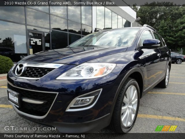 stormy blue mica 2010 mazda cx 9 grand touring awd. Black Bedroom Furniture Sets. Home Design Ideas