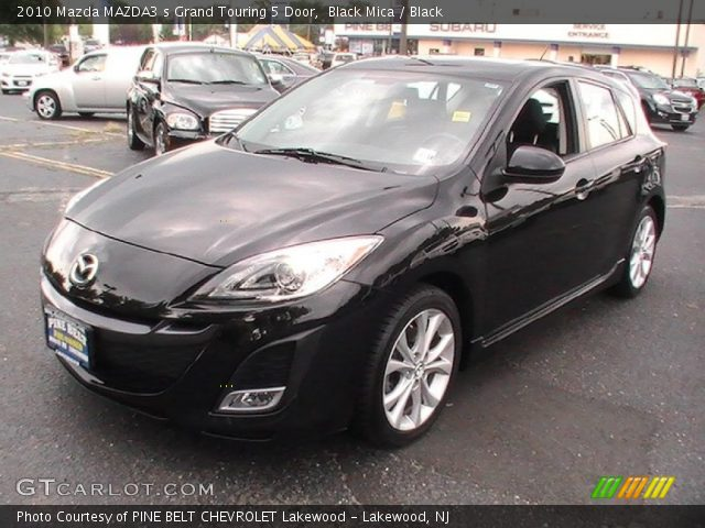 black mica 2010 mazda mazda3 s grand touring 5 door. Black Bedroom Furniture Sets. Home Design Ideas