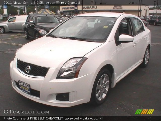 Aspen White - 2011 Nissan Sentra 2.0 SR - Charcoal Interior | GTCarLot ...