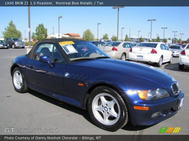 1996 bmw z3 19 roadster in montreal blue metallic atlanta blue metallic 1996