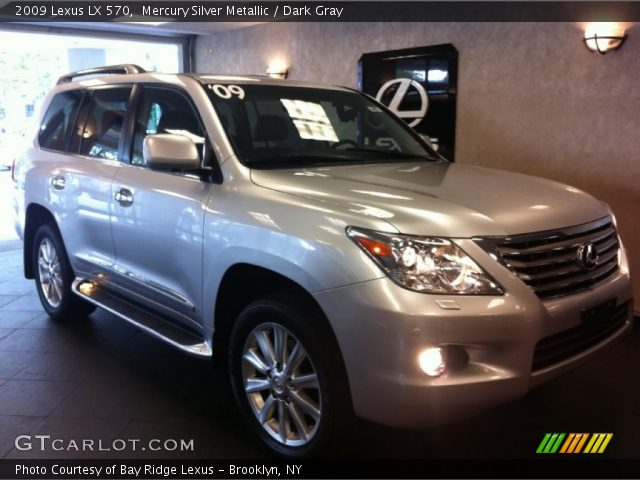 mercury silver metallic 2009 lexus lx 570 dark gray. Black Bedroom Furniture Sets. Home Design Ideas