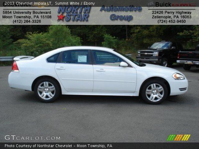 Summit White 2013 Chevrolet Impala Lt Ebony Interior Vehicle Archive 69622295