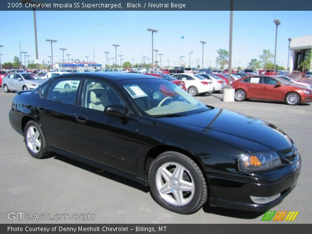 black 2005 chevrolet impala ss supercharged neutral beige interior vehicle. Black Bedroom Furniture Sets. Home Design Ideas