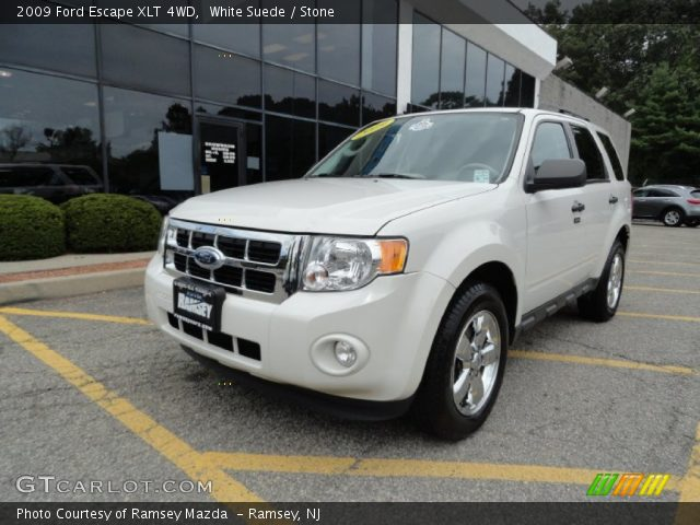 white suede 2009 ford escape xlt 4wd stone interior. Black Bedroom Furniture Sets. Home Design Ideas