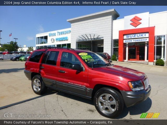 inferno red pearl 2004 jeep grand cherokee columbia edition 4x4 dark slate gray interior. Black Bedroom Furniture Sets. Home Design Ideas