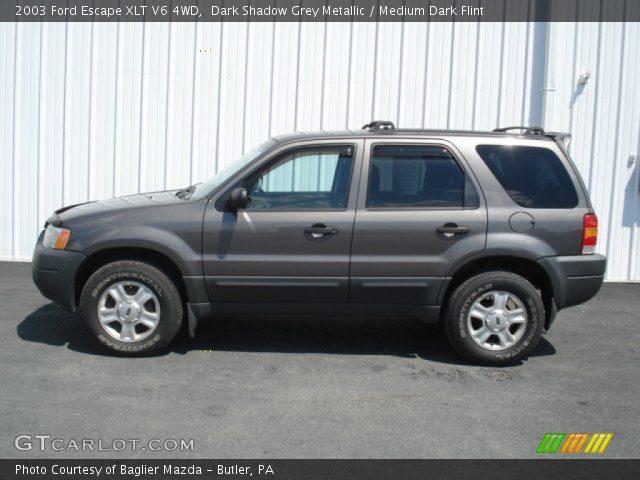 2003 Ford Escape XLT V6 4WD in Dark Shadow Grey Metallic