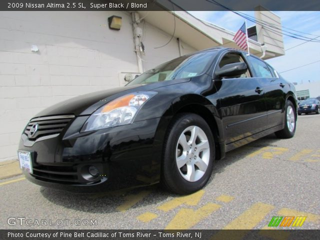 super black 2009 nissan altima 2 5 sl blond interior vehicle archive 69658331. Black Bedroom Furniture Sets. Home Design Ideas
