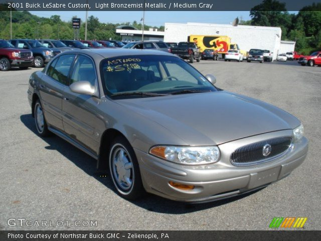 light bronzemist metallic 2001 buick lesabre custom medium gray interior. Black Bedroom Furniture Sets. Home Design Ideas