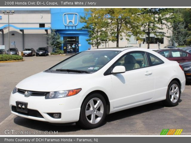 taffeta white 2008 honda civic ex l coupe ivory. Black Bedroom Furniture Sets. Home Design Ideas