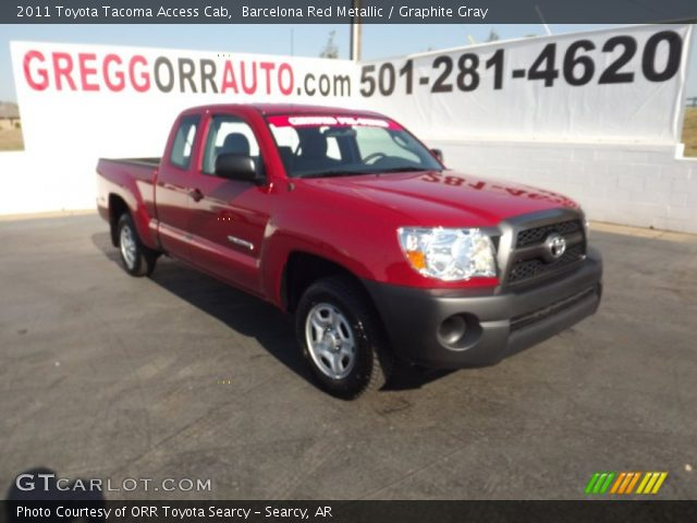 barcelona red metallic 2011 toyota tacoma access cab graphite gray interior. Black Bedroom Furniture Sets. Home Design Ideas