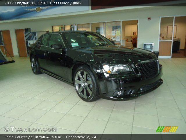 Gloss Black 2012 Chrysler 300 Srt8 Black Interior Vehicle Archive 69728156