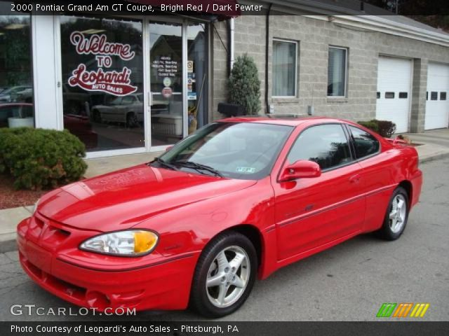 bright red 2000 pontiac grand am gt coupe dark pewter. Black Bedroom Furniture Sets. Home Design Ideas