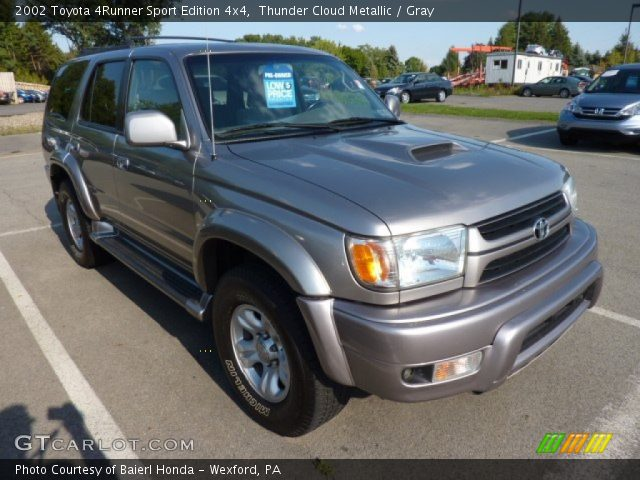 thunder cloud metallic 2002 toyota 4runner sport edition 4x4 gray interior. Black Bedroom Furniture Sets. Home Design Ideas