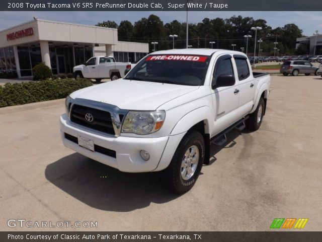 super white 2008 toyota tacoma v6 sr5 prerunner double cab taupe interior. Black Bedroom Furniture Sets. Home Design Ideas
