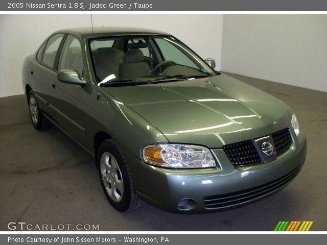 jaded green 2005 nissan sentra 1 8 s taupe interior vehicle archive 6961224. Black Bedroom Furniture Sets. Home Design Ideas