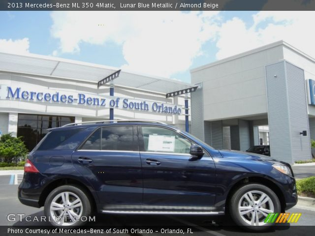 2013 Mercedes-Benz ML 350 4Matic in Lunar Blue Metallic