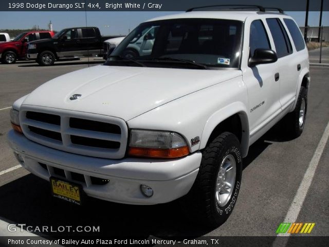 bright white 1998 dodge durango slt 4x4 gray interior. Black Bedroom Furniture Sets. Home Design Ideas