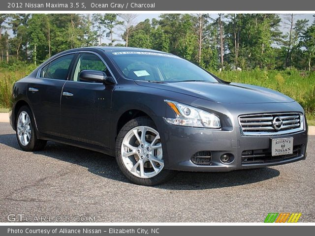 ocean gray 2012 nissan maxima 3 5 s charcoal interior vehicle archive 69905233. Black Bedroom Furniture Sets. Home Design Ideas