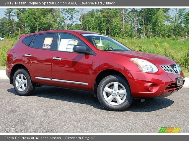 cayenne red 2012 nissan rogue s special edition awd black interior vehicle. Black Bedroom Furniture Sets. Home Design Ideas