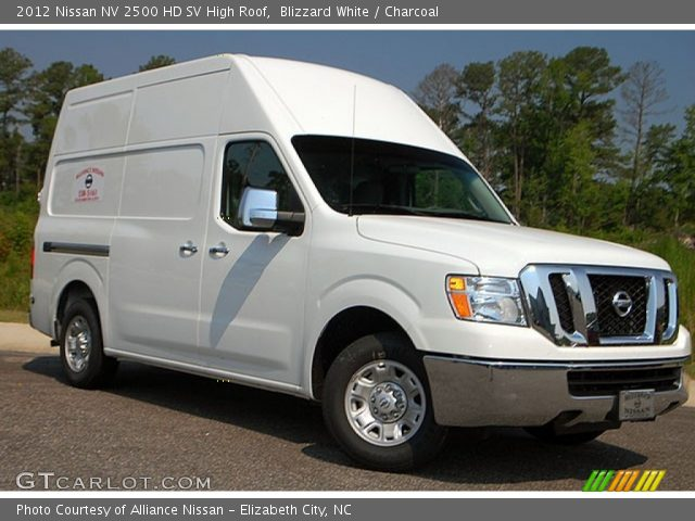 blizzard white 2012 nissan nv 2500 hd sv high roof charcoal interior. Black Bedroom Furniture Sets. Home Design Ideas
