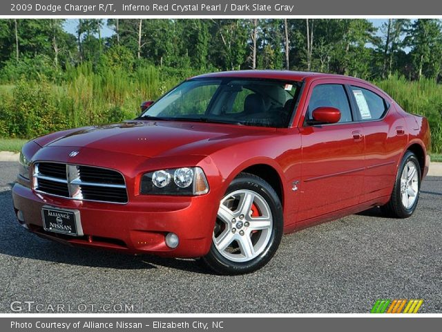 inferno red crystal pearl 2009 dodge charger r t dark. Black Bedroom Furniture Sets. Home Design Ideas