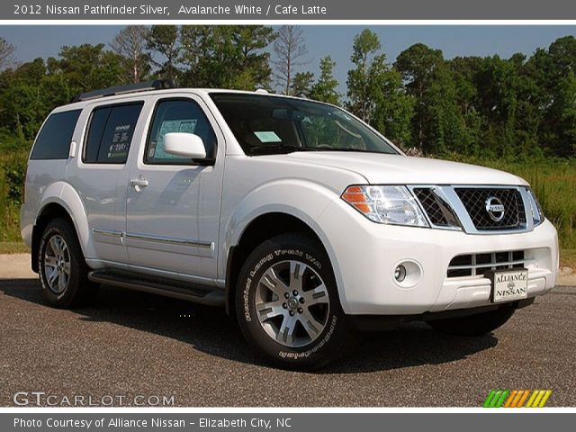 Avalanche White 2012 Nissan Pathfinder Silver Cafe Latte
