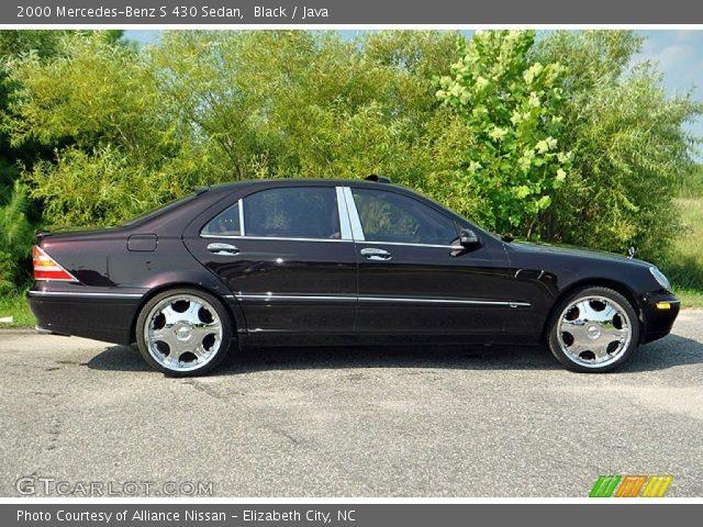 Black 2000 mercedes benz s 430 sedan java interior for Mercedes benz s 430