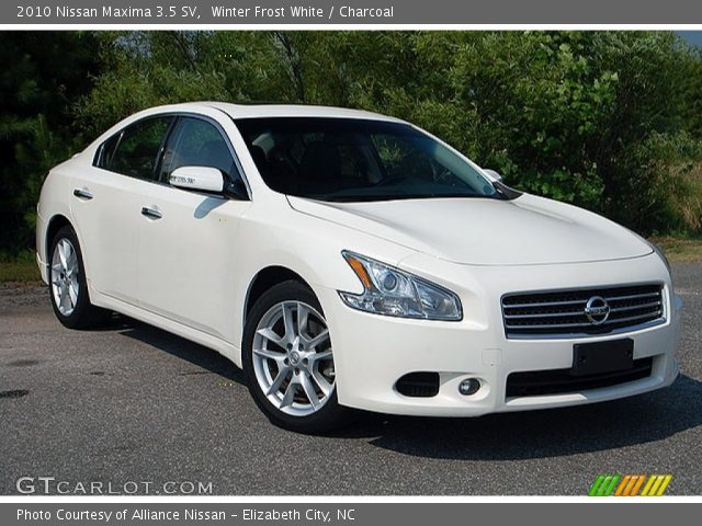 winter frost white 2010 nissan maxima 3 5 sv charcoal. Black Bedroom Furniture Sets. Home Design Ideas