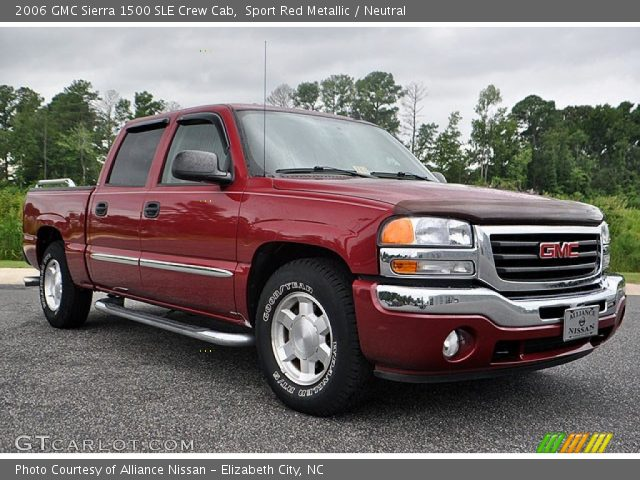 sport red metallic 2006 gmc sierra 1500 sle crew cab neutral interior. Black Bedroom Furniture Sets. Home Design Ideas