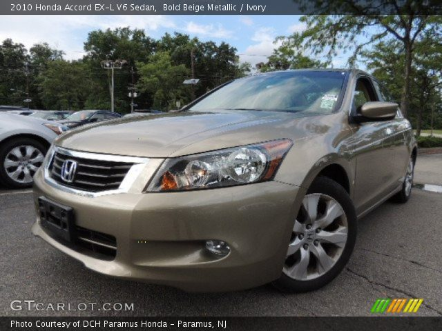 bold beige metallic 2010 honda accord ex l v6 sedan. Black Bedroom Furniture Sets. Home Design Ideas