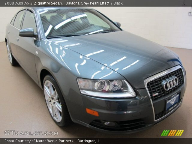 daytona grey pearl effect 2008 audi a6 3 2 quattro sedan black interior. Black Bedroom Furniture Sets. Home Design Ideas