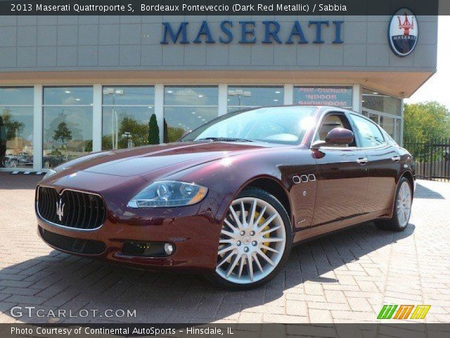 2013 Maserati Quattroporte S in Bordeaux Ponteveccio (Dark Red Metallic)