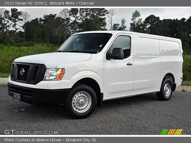 blizzard white 2012 nissan nv 1500 s charcoal interior vehicle archive. Black Bedroom Furniture Sets. Home Design Ideas