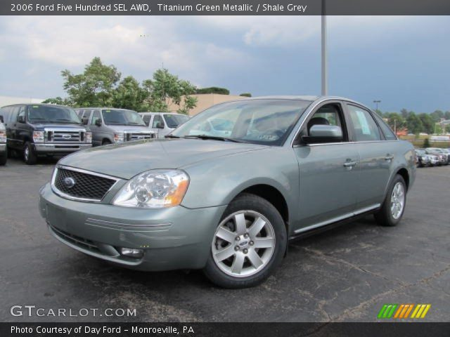 titanium green metallic 2006 ford five hundred sel awd shale grey interior. Black Bedroom Furniture Sets. Home Design Ideas