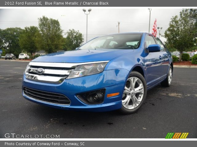 blue flame metallic 2012 ford fusion se charcoal black interior vehicle. Black Bedroom Furniture Sets. Home Design Ideas